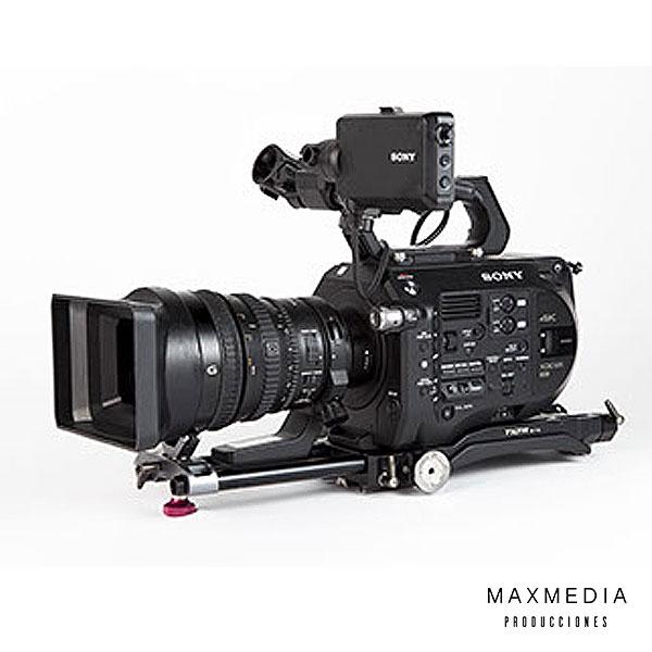 Cámara SONY FS7 + Lentes SONY FE PZ 28-135mm f_4 G OSDD Lens para alquilar Bogotá Colombia - MaxMedia