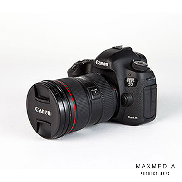Cámara fotográfica Canon EOS 5D Mark III DSLR + Lente Canon EF 24-70mm f_2.8L II USM alquilar bogotá - MaxMedia