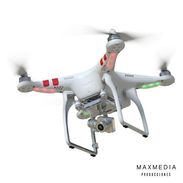 Drone DJI Phantom 2 Vision+ para alquiler en Bogotá Colombia - MaxMedia Productora