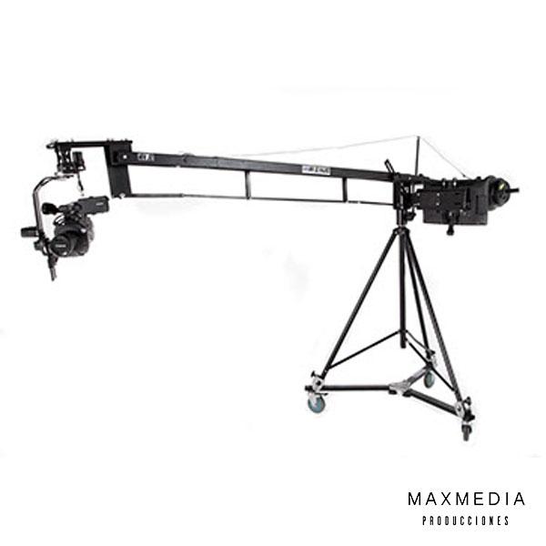 Grúa Profesional para video cámara alquiler en Bogotá - MaxMedia