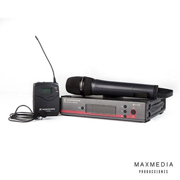 Sennheiser ew 112 G3 Wireless Bodypack Microphone System with ME 2 Lavalier alquiler Bogotá - MaxMedia