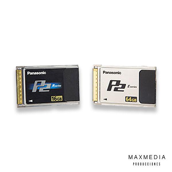Tarjeta P2 para grabación de video alquiler en Bogotá - MaxMedia Producciones